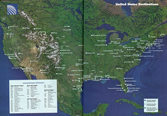 Continental U.S. destinations, 1993 (airbus777) Tags: continentalairlines routemap 1993