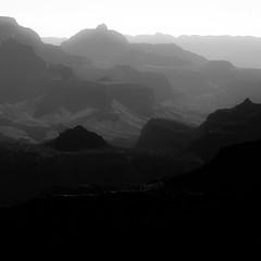 Vanishing Landscape 029 (noahbw) Tags: az arizona d5000 grandcanyon grandcanyonnationalpark nikon abstract blackwhite blackandwhite bw canyon cliffs desert erosion fog foggy horizon landscape mist misty monochrome natural noahbw quiet rock shadow sky spring square still stillness stone