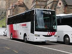 Edinburgh Coach Lines Van Hool EX16 YJ19AYT, in Globus Tours livery, at Johnston Terrace, Edinburgh, on 21 June 2019. (Robin Dickson 1) Tags: busesedinburgh edinburghcoachlines vanhoolex16 yj19ayt globustours