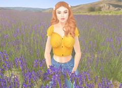 Just Breath (EnviouSLAY) Tags: lavender lavenderfield field scene secondlifefashion secondlifephotography farmscene farm yellow bright summer flowers milkmotion milk motion rebelgal rebel gal blueberry doux makeup jeans ginger pinkfuel pink fuel newreleases new releases genus classic belleza bento freya belleevents belle events c88 monthlyevent monthlyfashion monthlyfair monthly fashion fair event female male gay lgbt blogger secondlife second life photography