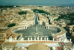 View of St Peter's Square from Michelangelo's Dome, the Vatican, Rome (alexdavidwriter) Tags: michelangelo dome cupola view stpeter basilica vatican square piazza sanpietro bernini rome italy veduta height architecture christianity religion catholic