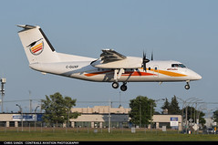 Air Creebec DH8C CGUXF (Sandsman83) Tags: airplane plane aircraft montreal cyul yul air creebec bombardier canadair dash 8 dhc8 cguxf landing