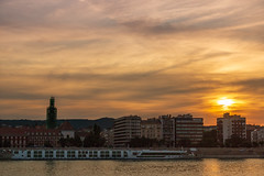 Sunset over Budapest (Behind Budapest) Tags: 2019 365project 70d budapest canon danube donau duna hungary magyarorszag scenic sceniccruises unesco vizivaros city cityscape cloud clouds colours nyar outdoor outside river riverfront sky skyline summer town urban water waterfront 1500v60f