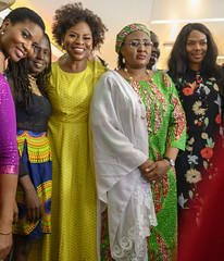 DSC_5195a The First Lady of Nigeria Her Excellency Aisha Buhari and Her Excellency Dr Justina Mutale Photo Opportunity at the Awards Gala Dinner African Ambassadors & Diaspora Interactive Form AAIF United Nations buildings International Maritime Organizat