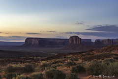 Morning in Monument Valley (Scott Sanford Photography) Tags: 6d canon ef24105f4l eos landscape monumentvalley morning naturalbeauty nature outdoor sunrise topazlabs arizona bluehour desert roadtrip travel trip vacation exploring naturallight sunlight beautiful