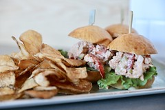 fullsizeoutput_2e9e6 (Bites N Sites) Tags: jekyll island georgia coast food lobster sliders kettle chips eighty ocean kitchen bar club