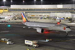RP-C3508 (Rich Snyder--Jetarazzi Photography) Tags: philippineairlines philippine pal pr airbus a350 a350900 a350941 a359 rpc3508 lovebus departure departing sanfranciscointernationalairport sfo ksfo millbrae california ca airplane airliner aircraft jet plane jetliner ramptowera rcta atower dark night lights