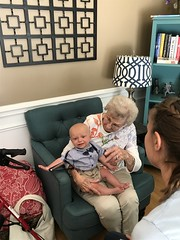 """Grandma Shirley Holds Sam • <a style=""""font-size:0.8em;"""" href=""""http://www.flickr.com/photos/109120354@N07/48388055636/"""" target=""""_blank"""">View on Flickr</a>"""