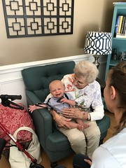 """Grandma Shirley Holds Sam • <a style=""""font-size:0.8em;"""" href=""""http://www.flickr.com/photos/109120354@N07/48388195157/"""" target=""""_blank"""">View on Flickr</a>"""