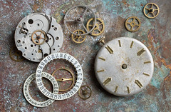 watch parts 01 jul 19 (Shaun the grime lover) Tags: clock macro tabletop wheel gears gearwheels dial mechanism watch