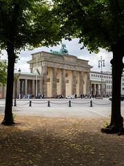 Brandenburg Gate framed by linden trees viewed from the Tiergarten (Marc Merlin) Tags: brandenburggate untendenlinden brandenburgertur berlin germany
