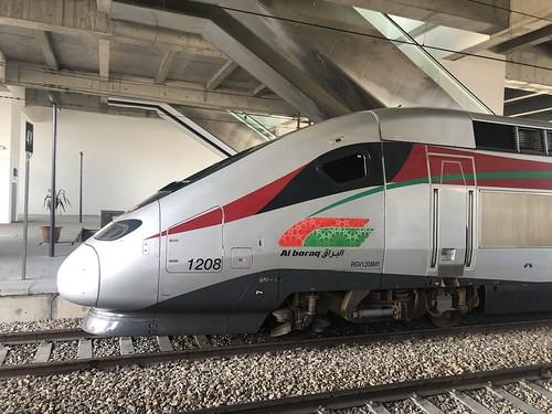 Al-Boraq high speed train at Casablanca Voyageurs railway station