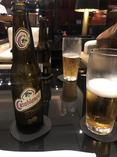 Casablanca beers at the Hyatt Regency