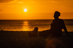 Mother and son (Reaz Ahtai) Tags: sunset lif people family