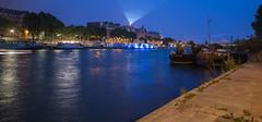 Les bords de Seine - La Tour Eiffel - Blue Hour - Paris (valecomte20) Tags: seine water quai river paris nikon d750 tour eiffel national outside bridge pont blue night sunset street cityscape
