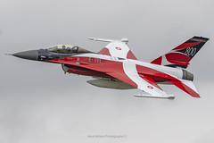 Danish F-16AM E-191 - Danish Flag 800th Anniversary Special (Mark_Aviation) Tags: danish f16am e191 flag 800th anniversary special denmark air force f16 lockheed martin f16a block 20 mlu livery scheme riat riat19 royal international tattoo 2019 fairford raf egva