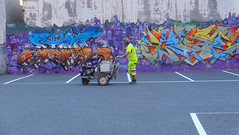 marking (Leifskandsen) Tags: work doing paint marking road parking lot colors grafitti camera leica living leifskandsen skandsenimages scandinavia skandsen norway