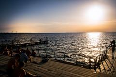 By the beach (Maria Eklind) Tags: djuphavsbadet summer skåne öresund malmö restaurant sweden vibes västrahamnen scaniaparken scaniabadetwater standup skånelän sverige
