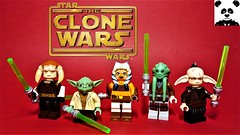"""""""An elegant weapon... for a more civilised age"""" (HaphazardPanda) Tags: lego figs fig figures figure minifigs minifig minifigures minifigure purist purists character characters films film movie movies tv star wars lightsaber the clone clonewarssaved saesee tiin yoda ahsoka tano kit fisto even piell animated cartoon network"""