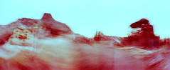 22_79960022_natasha_vassiliou (natasha_vassiliou) Tags: film analogue expired colour panoramic blue fujichrome provia horizon 120 degrees lens lomography cyprus