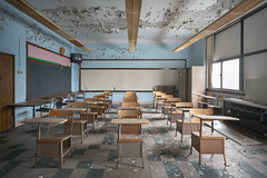 ...homeroom... (Art in Entropy) Tags: abandoned school desks education decay derelict lost urban explore exploration adventure photography light sony sonyalpha alpha grime creepy educational ruin
