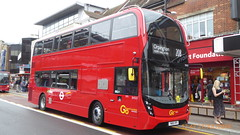 P1170168 EH327 YW19 VPX at Bromley South Station High Street Bromley South London (LJ61 GXN (was LK60 HPJ)) Tags: goaheadlondon goaheadmetrobus metrobus alexanderdennistrident2hybrid enviro400hybrid enviro400hhybrid enviro400h enviro400hybridmmc enviro400hhybridmmc enviro400hmmc e400h mmc majormodelchange 105m 10500mm eh327 yw19vpx j45717