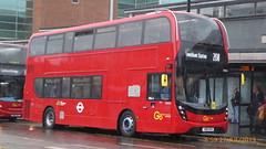 P1170114 EH321 YW19 VPO at Bromley South Station High Street Bromley South London (LJ61 GXN (was LK60 HPJ)) Tags: goaheadlondon goaheadmetrobus metrobus alexanderdennistrident2hybrid enviro400hybrid enviro400hhybrid enviro400h enviro400hybridmmc enviro400hhybridmmc enviro400hmmc e400h mmc majormodelchange 105m 10500mm eh321 yw19vpo j45711