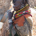 Turkana village - a woman concentrates