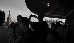 Tourism III (Robert-Jan van Lotringen) Tags: newyorkcity newyork statueofliberty libertyisland usa tourism picture monument statue tourists selfie iphone ladyliberty independenceday 4thofjuly pov