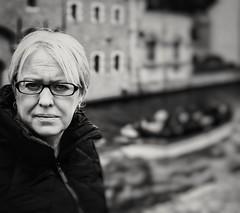 A Monochrome Portrait (Bruges) (markdbaynham) Tags: olympus omd em12 em1ii em1mk2 em1markii mft m43 micro43 prime mzd mzuiko zuikolic 25mm f12 prolens people bw monochrome blackwhite em1 fixedlens