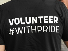 VOLUNTEER  #BACK (garydavidworthington) Tags: volunteer pride liverpool photography people mersey march tshirt smile lady men lgbtq words hashtag withpride creative city colour kindness lcrpridefoundation prideinliverpol