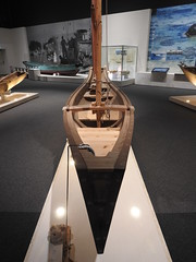 Honhagi sailboat bow (Joel Abroad) Tags: churaumi okinawa boat oceanic culture museum honhagi sailboat