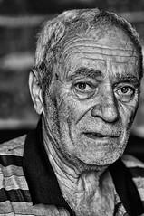 Vinicio. portrait (le foto del geometra) Tags: ritratto bw blackwhite blackandwithe absoluteblackandwhite portrait man old face inside eye