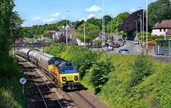 Suburban Cement (whosoever2) Tags: uk united kingdom gb great britain scotland nikon d7100 train railway railroad june 2019 colas class70 70812 westferry dundee 6a65 oxwellmains aberdeen craiginches sun