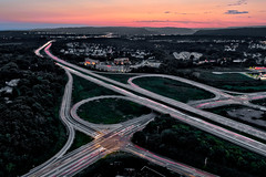 Rt 81 in Harrisburg, PA Aerial View (WabbyTwaxx) Tags: rt 81 highway harrisburg pa pennsylvania twilight aerial drone sunset