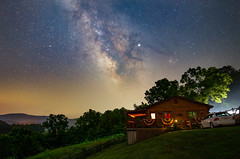 Milky Way, Fireflies and our Cabin in WV (rex.on.life) Tags: astronomy astrophotography galaxy longexposure milkyway ioptron starscape westvirginia darksky canon canoneos6d