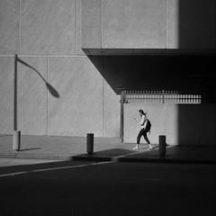 concrete thinking (Jim_ATL) Tags: street smartphone concrete facade wall library bw blackandwhite atlanta