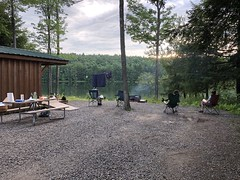 Beautiful Evening By Bowman Lake (amyboemig) Tags: bowman lake state park ny newyork camping cabin