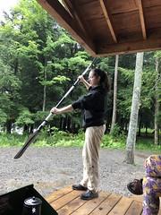 Beth Shows Us How To Paddle (amyboemig) Tags: beth bowman lake state park ny newyork camping paddle