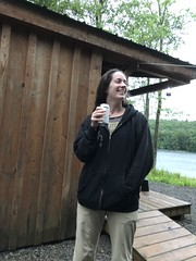 Beth Is Delightful (amyboemig) Tags: beth bowman lake state park ny newyork delightful camping