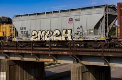 (o texano) Tags: houston texas graffiti trains freights bench benching 2much