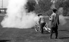 cannon firing (bergytone) Tags: film bw blackandwhite olympus om2 om2n kentmere 100 xtol