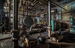 Backside Boilers (billmclaugh) Tags: paperboard industry paper pulp mill warehouse ohio abandoned urbanexploration urbex ue boilers rust decay shadows derelict debris canon 5dmiii rokinon14mmf28ifedumc highdynamicrange hdr adobe lightroom photoshop photomatix on1 perfecteffects