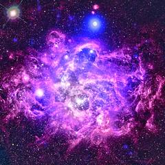 NGC 604 in M33, variant (sjrankin) Tags: 28july2019 edited nasa chandraspacetelescope xray 20thanniversary primage galaxy m33 ngc604 nebula