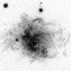 NGC 604 in M33, variant (sjrankin) Tags: 28july2019 edited nasa chandraspacetelescope xray 20thanniversary primage grayscale galaxy m33 ngc604 nebula