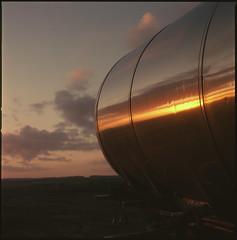 reflected sunrise (steve-jack) Tags: hasselblad 501cm 50mm cfi fuji 64t film 120 6x6 medium format tetenal e6 kit epson v500 85b filter
