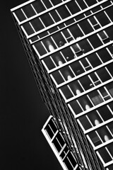 (jfre81) Tags: chicago downtown loop abstract minimalist architecture diagonal lines black white onblack city urban james fremont photography jfre81 canon rebel xs eos