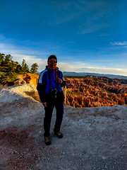 on the trail ... (mariola aga) Tags: brycecanyon utah canyon morning sunrise trail me walk portrait nature landscape pixel2xl