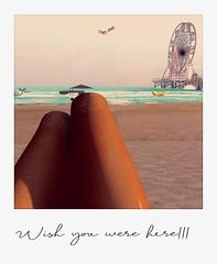 Wishing (LondynAviva) Tags: polaroid beach ferriswheel