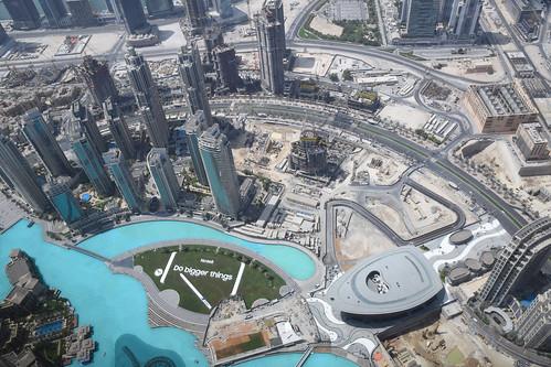 Dubai views from Burj Khalifa